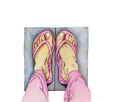 Pink Feet! Photographic Print