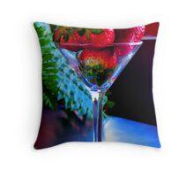Strawberry Martini Throw Pillow