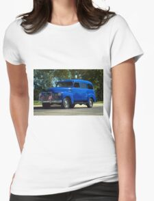 1948 Chevrolet Suburban Carryall.  Womens Fitted T-Shirt