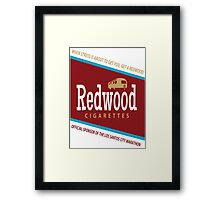 Redwood Cigarettes Framed Print