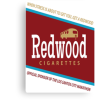 Redwood Cigarettes Canvas Print