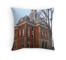 Warren, Penn. Courthouse Throw Pillow