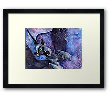 Nightmare Moon in watercolor Framed Print