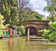 Sheltered Mooring on the Kennet and Avon canal by ipgphotography