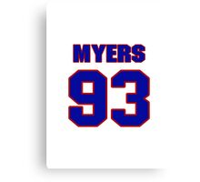 National football player Michael Myers jersey 93 Canvas Print