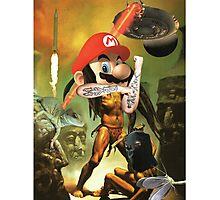 Enter the Sandman Mario Photographic Print