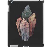 Dark Watercolor Crystals iPad Case/Skin