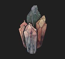 Dark Watercolor Crystals by byOli