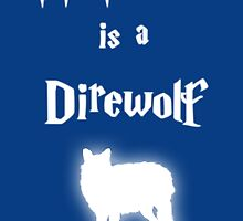 My Patronus is a Direwolf by OuroborosEnt