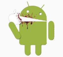 Android Eating Apple by GALD-Store
