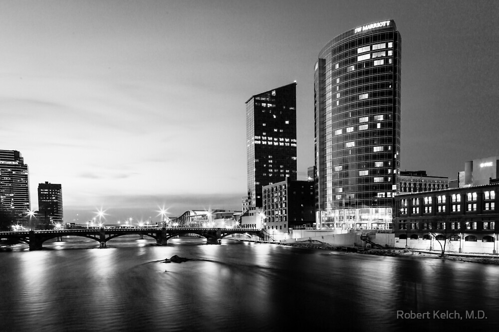 The Grand River in Black and White by Robert Kelch, M.D.