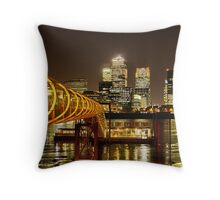 Piers of Docklands Hilton Throw Pillow