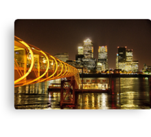 Piers of Docklands Hilton Canvas Print