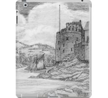 My pencil drawing of Dartmouth Castle, Devon - all products bar duvet iPad Case/Skin