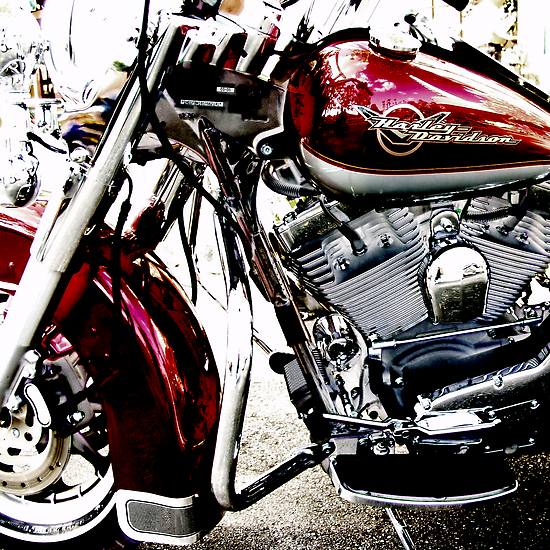 red harley by brian gregory