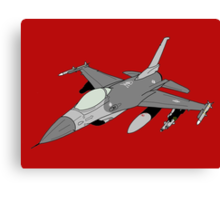 "F-16 ""Fighting Falcon"" Viper Canvas Print"
