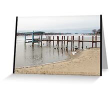 Dreary Days By Docks Greeting Card