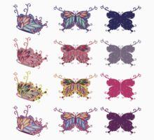 Colored butterflies 4 One Piece - Short Sleeve