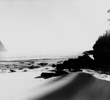 Pearl Beach Black and White by Arran Pratt