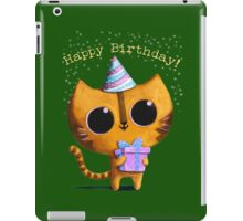 Cute Birthday Cat iPad Case/Skin