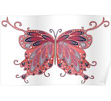 Abstract Fantasy Butterfly 2 Poster