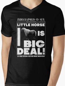 Little horse is big deal. (black) Mens V-Neck T-Shirt