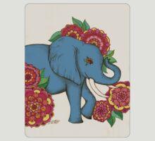 Little Blue Elephant in her secret garden T-Shirt