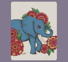 Little Blue Elephant in her secret garden Kids Clothes