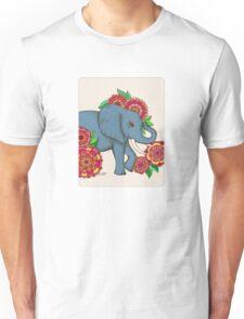 Little Blue Elephant in her secret garden Unisex T-Shirt