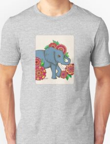 Little Blue Elephant in her secret garden T-Shirt