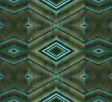 green abstract pattern by Donna Grayson