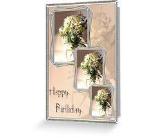 happy birthday cream Greeting Card