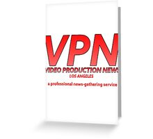 Inspired by Nightcrawler - Video Production News Greeting Card