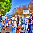 At the Tempe Art Fair by Roger Passman