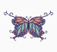 Abstract Fantasy Butterfly 6 Kids Tee
