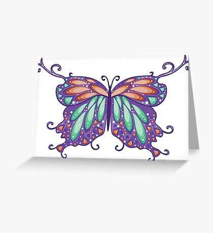 Abstract Fantasy Butterfly 6 Greeting Card