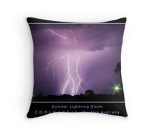 Summer Lightning Storm Throw Pillow