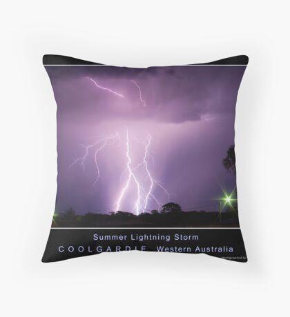 Summer Lightning Storm Throw Pillow