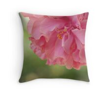Frothy Bloom Throw Pillow