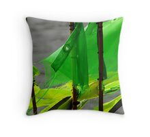 Fishing flags Throw Pillow
