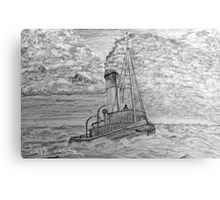 My pencil drawing of a Steam Tugboat  Canvas Print