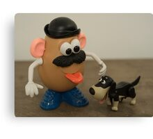 Mr Potato Head and his doggy  Canvas Print