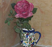 Rose in a Jug by Riihele