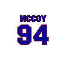 National football player Tony McCoy jersey 94 Photographic Print