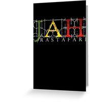 JAH Rastafari WHT Greeting Card