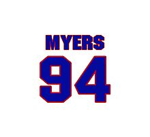 National football player Michael Myers jersey 94 Photographic Print
