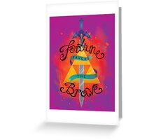 Fortune Favors Greeting Card