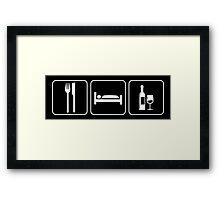 Food Sleep Wine Framed Print