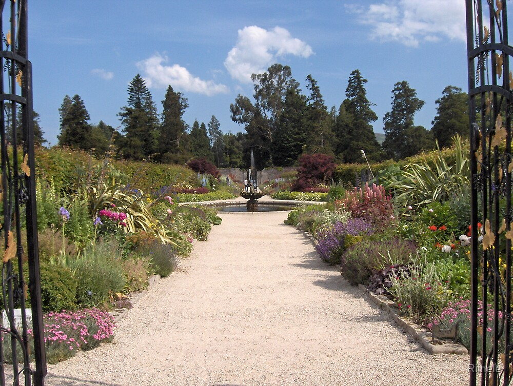 Lane in the walled garden in Powerscourt by Riihele