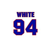 National football player Alberto White jersey 94 Photographic Print